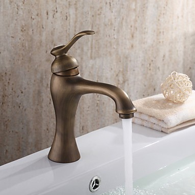 Centerset Antique Brass Bathroom Sink Faucet TP0493