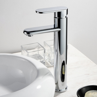 Chrome Finish Solid Brass Bathroom Sink Faucet T0508H