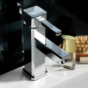 Chrome Finish Solid Brass Bathroom Sink Faucet T0513