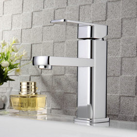 Chrome Finish Solid Brass Bathroom Sink Faucet T0516