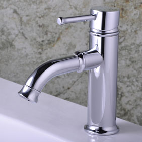 Chrome Single Handle Centerset Bathroom Sink Faucet T0535