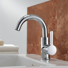 Chrome Finish Solid Brass Bathroom Sink Faucet T0542