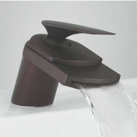 Oil Rubbed Bronze Waterfall Bathroom Sink Faucet T0701B