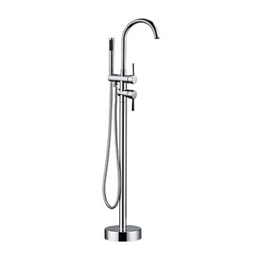 Contemporary Floor Standing Tub Faucet with Hand Shower T0722FS