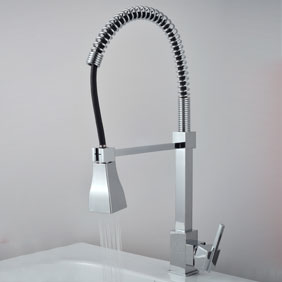 Single Handle Chrome Centerset Kitchen Faucet T0748