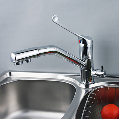 Solid Brass Kitchen Faucet with Drinking Water Function T0791