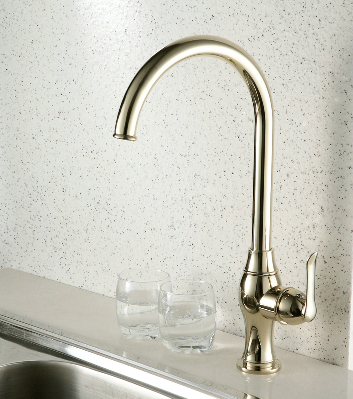 Ti-PVD Finish Antique Style Kitchen Faucet TP0795G