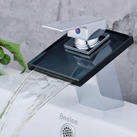 Contemporary Waterfall Bathroom Sink Faucet T0815B