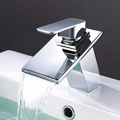 Brass Waterfall Bathroom Sink Faucet T0818BR