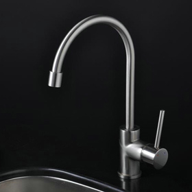 Nickel Brushed Single Handle Kitchen Faucet (T1703S)