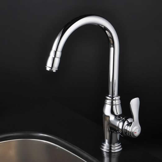 Chrome Single Handle Centerset kitchen Faucet T1723