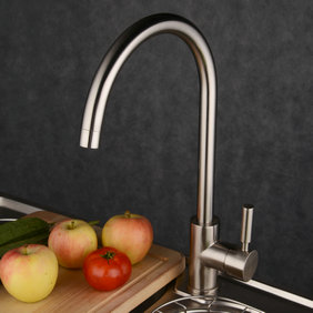 Contemporary Single Handle Brass Kitchen Faucet T1729N