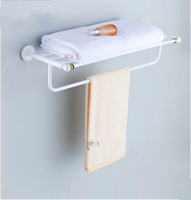 Best Selling Brass Roasted white Porcelain Bathroom Classic Double Towel Bar TAB1889