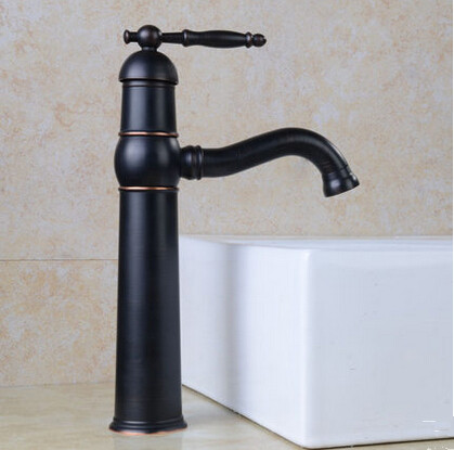 Brass Antique Black Bronze Bathroom Mixer Sink Faucet Rotatable BT1123Q