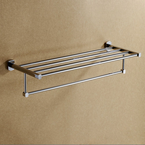 Chrome Finish Bathroom Rack With Towel Bar TCB1004