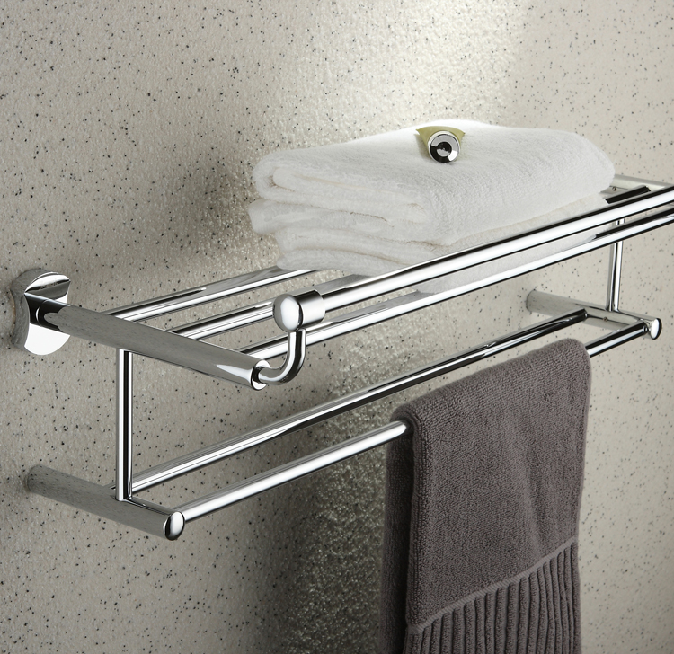 Chrome Finish Bathroom Rack With Towel Bar TCB2004