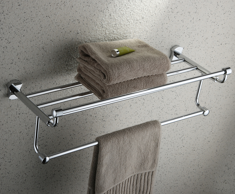 Chrome Finish Bathroom Rack With Towel Bar TCB2007