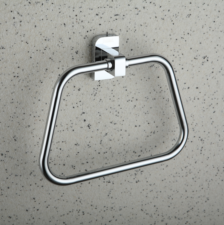 Chrome finished Brass Wall-mounted Towel Ring TCB2008