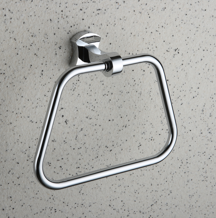 Chrome finished Brass Wall-mounted Towel Ring TCB2009