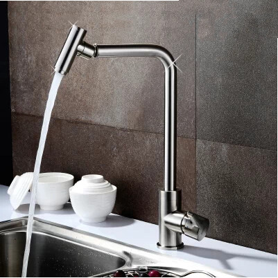 Modern Bubbler Design Mixer Kitchen One Handel One Hole Rotatable Faucet DR7904