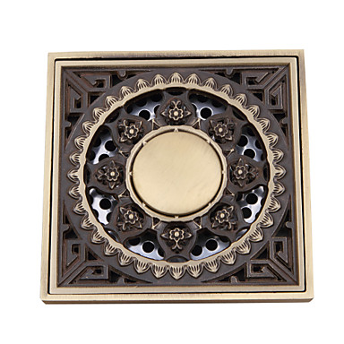 Bathroom Accessory Antique Brass Finish Solid Brass Floor Drain FD005