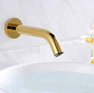 Automatic Golden Printed Bathroom Washing Hands Faucet Wall Mounted Sensor Faucet FG0170
