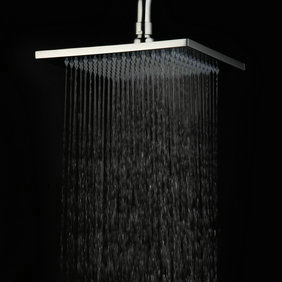 Contemporary 8 Inch Chromed Brass Rainfall Shower Head HB08