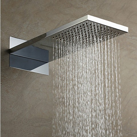 US Standard 304 Stainless Steel Rainfall Rectangle Shower Head HB53B