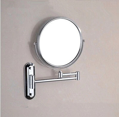 Brass Finish Wall Mounted Bathroom Two Sides Magnifying Glass Cosmetic Mirror MB005