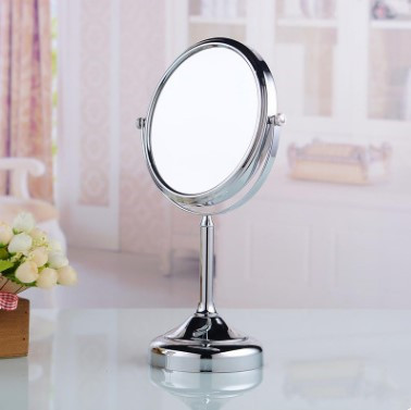 8 Inch Chrome Finished Two Sides Desktop Make Up Bathroom Mirrors MB056