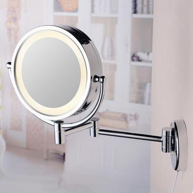 Attirant 8 Inch Chrome Wall Mounted LED Bathroom Make Up Mirrors MB185