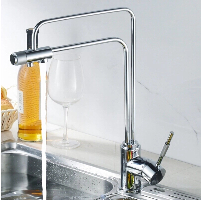 Contemporary Brass Water Filter Kitchen Multifunction Three Way Faucet PH9408