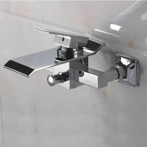Contemporary Waterfall Brass Bathtub Faucet (Wall Mount) TQ3002W