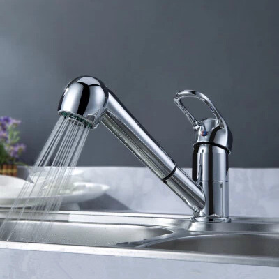 Simple Design Hot and Cold Kitchen Brass Pull Out Faucet RF7041