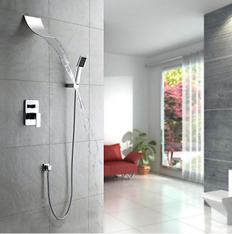 Shower Faucet with 8 inch Shower Head + Hand Shower SC005