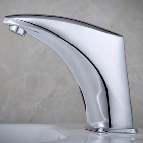 Contemporary New Sensor Water Faucet Single Cold Faucet Sink Basin Faucet - T0100