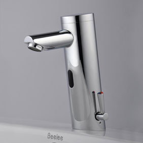Contemporary Sensor Faucet Automatic Touchless Bathroom Sink Faucet Mixer - T0106A