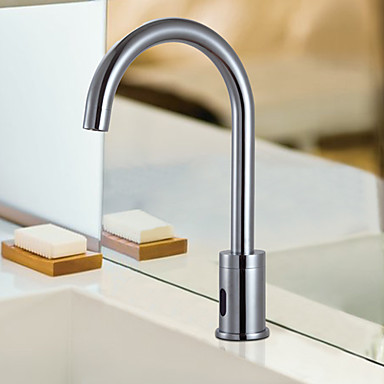 Contemporary Cold Water Automatic Touchless Sensor Sink Faucet - T0108