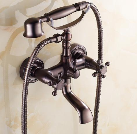 Traditional Oil-rubbed Bronze Finish Two Handles Bathtub Faucet T0415W-OR