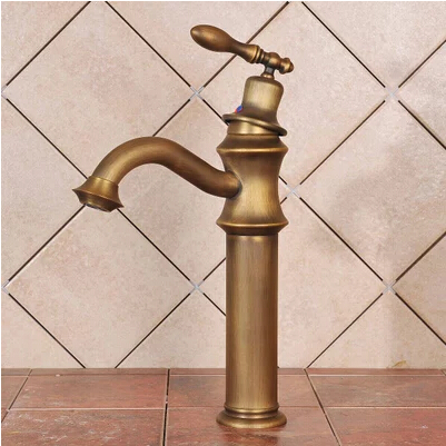 Centerset Antique Brass Bathroom Sink Faucet T0449A
