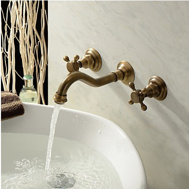 Antique Inspired Bathroom Sink Faucet Polished Brass Finish T0459A