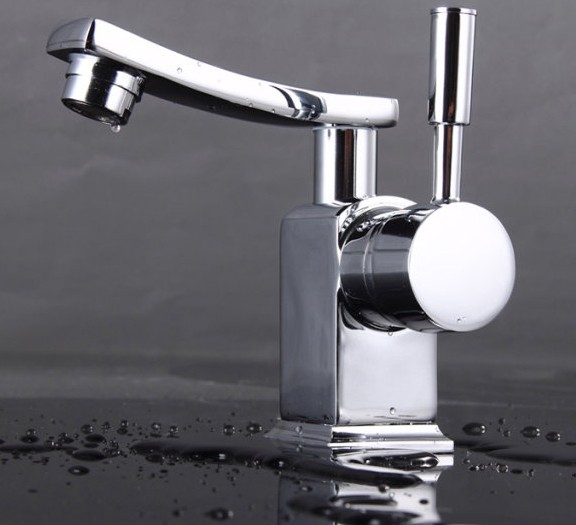 Chrome Finish Solid Brass Bathroom Sink Faucet T0604
