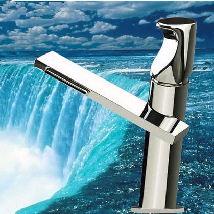 New Style Brass Waterfall Outlet Bathroom Sink Faucet Single Handle Mixer Faucet T1029C