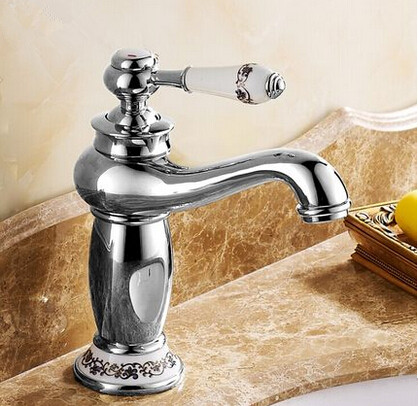 New European Style Mixer Bathroom Sink Faucet Chrome T1120SC