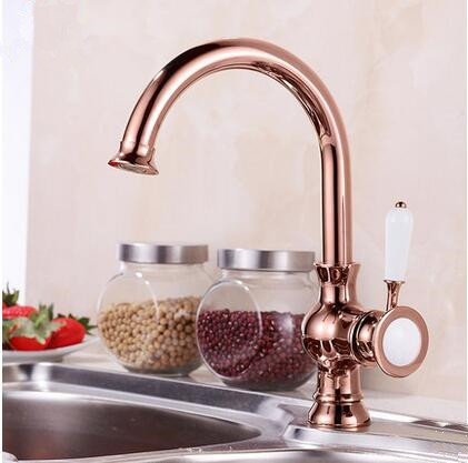 New Arrival Antique Brass Rose Gold Kitchen Sink Faucet TA0218R