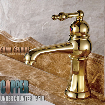 New Arrival Golden Printed Bathroom Sink Faucet TA2028G