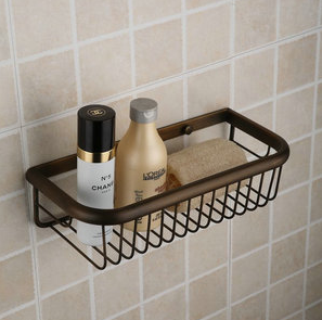 Antique Brass Finish Single Layer Wall-mounted Soap Basket TAB1013