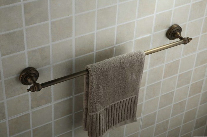 Antique Brass Finish Wall-mounted Single Towel Bar TAB2005