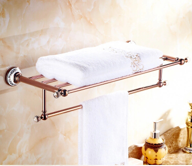 Antique Brass Rose Gold with Porcelain Bathroom Luxurious Towel Bar TAB502