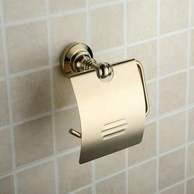 Antique Brass Ti-PVD Wall-mounted Toilet Roll Holder TGB1002